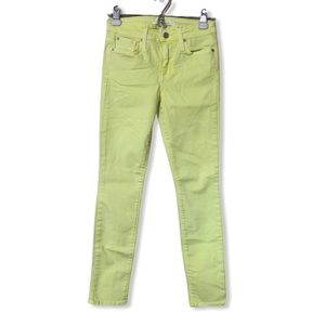 Else Soft Neon Yellow Ankle Skinny Jeans—26